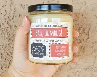 LARGE Bah, Humbug! Net Wt. 9 oz. Soy Candle