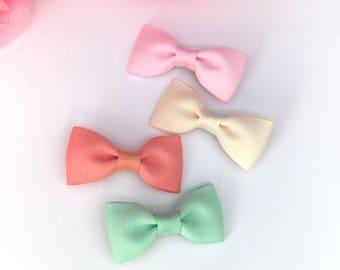 Baby hair bows, newborn headbands, small bows