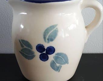 "Pfaltzgraff Creamer Pitcher Blueberries 4 1/4"""