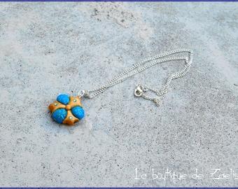 Sapphire stone Zora ancestral Zelda pendant