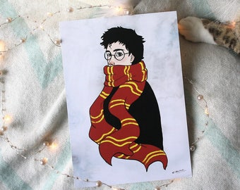 "Illustration size A5 ""Harry Potter"""