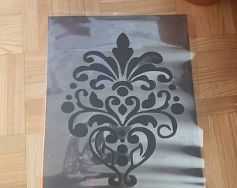 Large Damask Stencil handcut