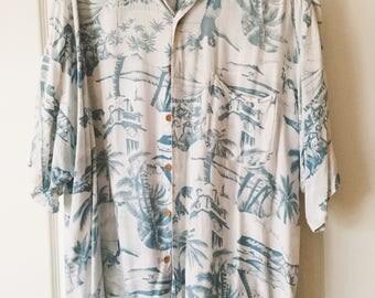 Beach Boys Short Sleeve Button Up