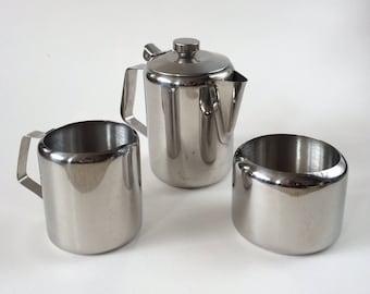 Vintage stainless steel teaset