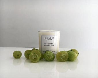 Mini Gooseberry & Elderflower candle