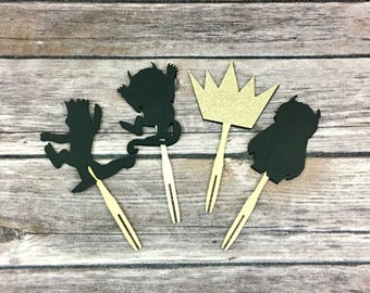 Where The Wild Things Inspired Cupcake Toppers, Wild One, Cupcake Toppers, Baby Shower, Birthday Decor