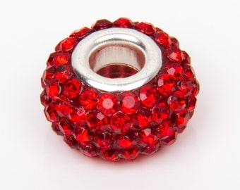 European o15 with Crystal Red bead