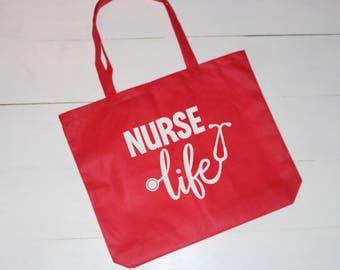 Nurse, Nurse Bag, Nurses Bag, Canvas Bag, Canvas Tote