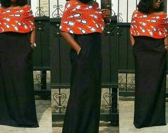 Ankara A shape pocket dress