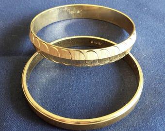 Vintage Set of Gold Monet Bangle Bracelets