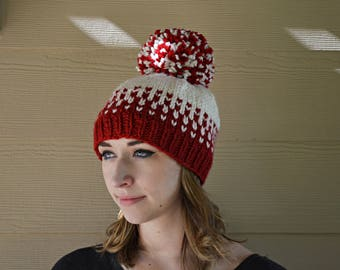 Women's Flurries Knit Hat w/ pom pom