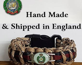 The Royal Engineers Desert Camo Paracord Bracelet Wristband Great Gift