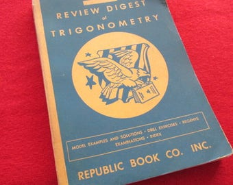 "1949 Edition of ""Review Digest of Plane Trigonometry"" by David Malament"