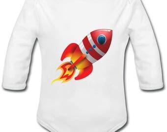Rocket - possibility of custom name onesie