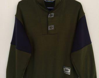 Rare!! Vintage UCLA University Of California Spellout Button Pullover Jumper Sweatshirt