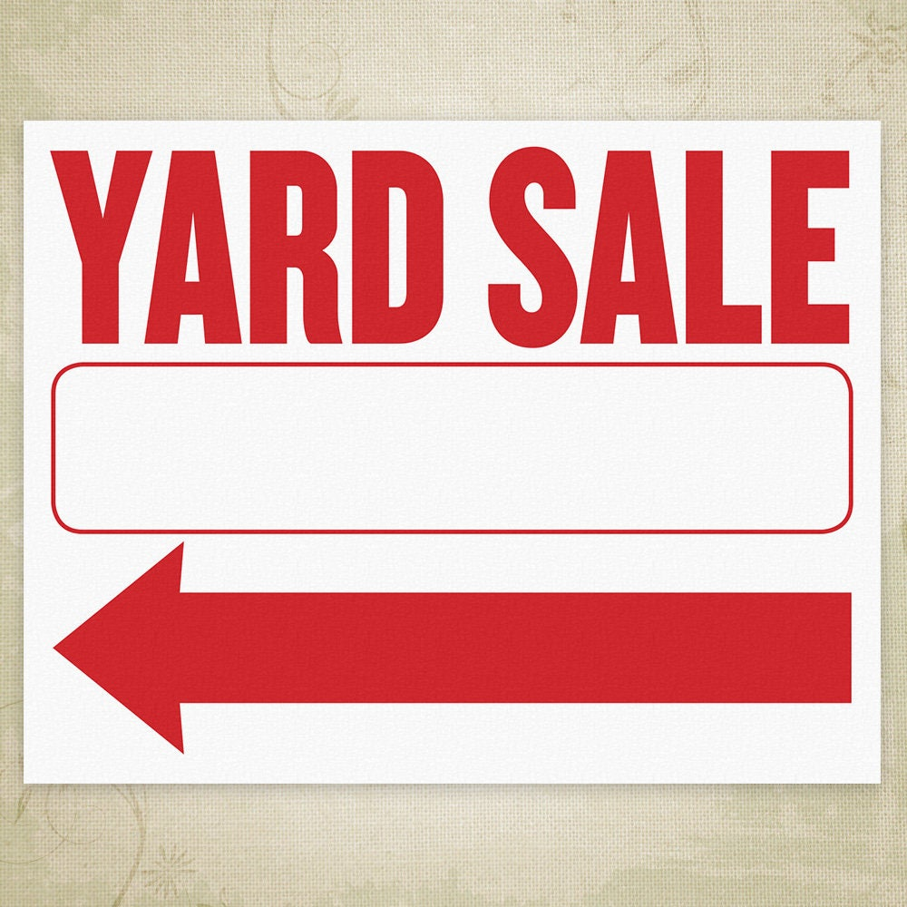 Yard Sale Sign Template Printable  coupons4travelcom
