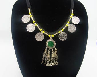 Tribal Belly Dance Kuchi Coin Necklace