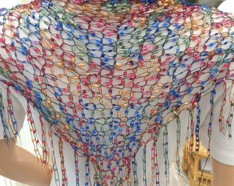 Fashionable scarf, multicolor accessory, lightweight scarf, colorful accessory, stylish accessory , flattering scarf, wear anywhere scarf,