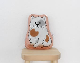 Cat - Flecki - plush stuffed animal pillow kids room nursery