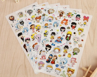 Stickers 6 sheets set new diary of happy girl