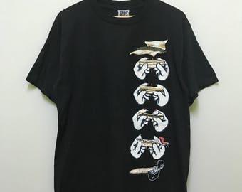 vintage 90s 1994 skunk wear skate skateboard streetwear big image / rare design promo t-shirts