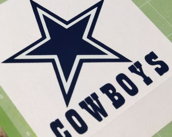 1 Cowboys Stickers for Yeti Rambler Colster Can