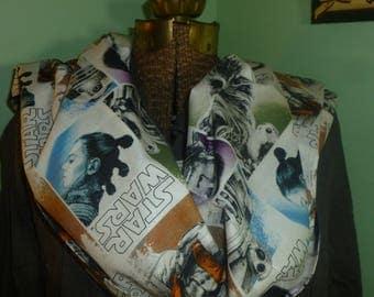 "Star Wars Infinity, 72"" star wars infinity, Porg infinity, white infinity, teacher scarf, star wars scarf,"