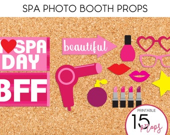 Spa Photo Booth Props - PRINTABLE