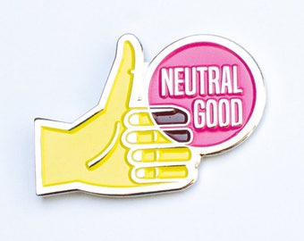 "Neutral Good RPG Alignment 1.25"" Enamel Pin"