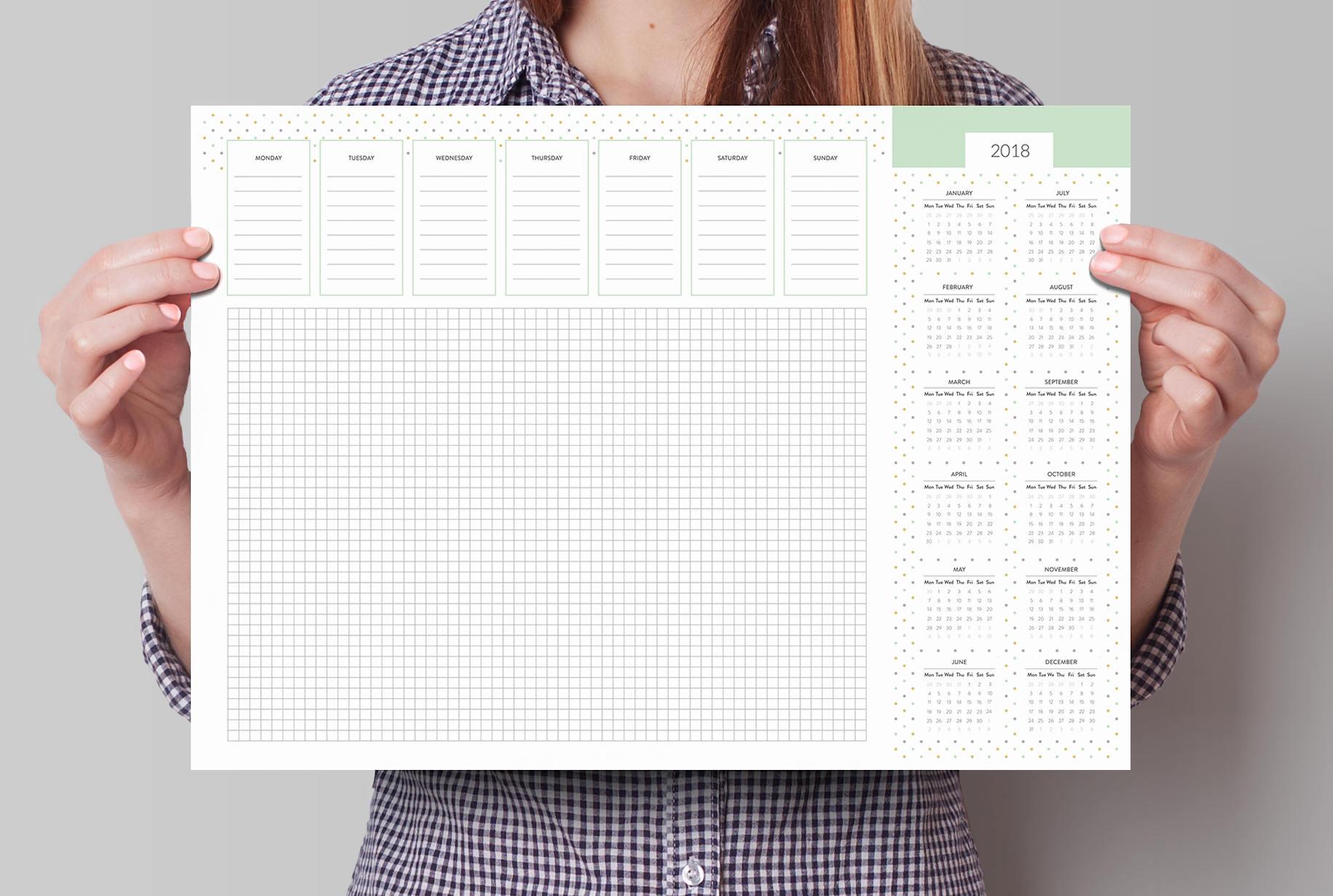 Monthly Weekly Planner Desk Pad A Desk Pad Calendar With - Desk blotter calendar