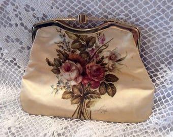 Vintage romantic floral purse/change purse