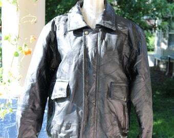 80s/90s Men's Leather Jacket