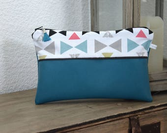 "Turquoise blue pouch - ""Bow-Butterfly"" Collection"