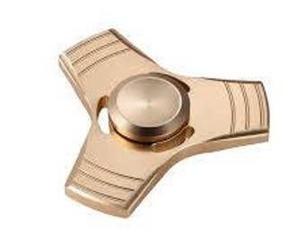 Metal Finger spinner GOLD color. Fast fidget spinner. Antistress toy. Toy for ADHD children's and adults.
