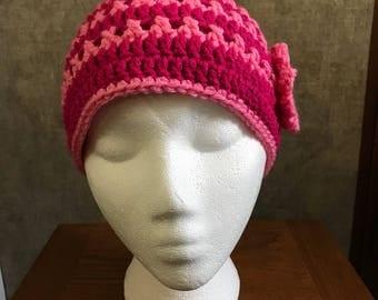 Super cute Breast Cancer Awareness beanie