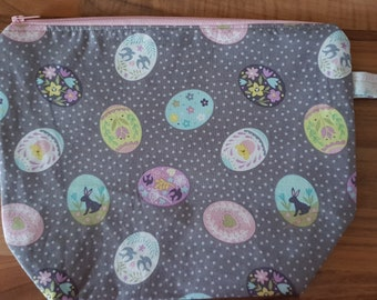 Easter Egg Zipped Project bag
