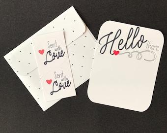 Notecards, Handmade Notecards, Diecut Notecards, White Notecards, Hand Crafted Notecards, Hostess Gift, Teacher Gift