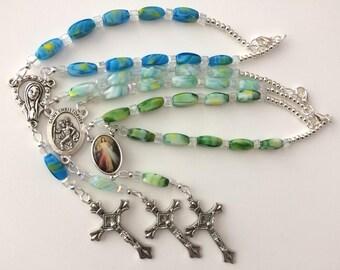 Car Rosary, Hanging Car Chaplet, St. Christopher Car Chaplet, Divine Mercy Chaplet, Madonna Chaplet, Car Mirror Rosary, Traveler Saint