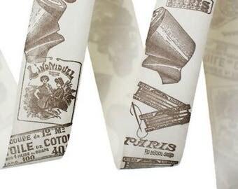 Cotton cream scissors, width 1 M ribbons: 25mm