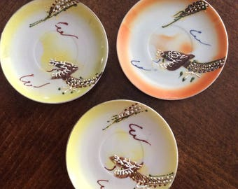 Dragon plates vintage china teacup saucers hand painted dragons