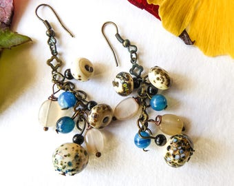 Clusters of salt and iodine earrings