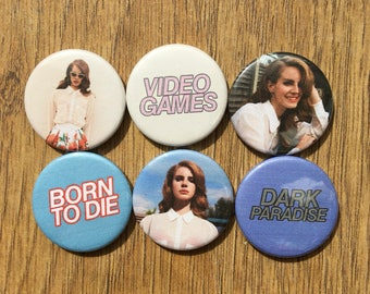Lana Del Rey set of 6 badges