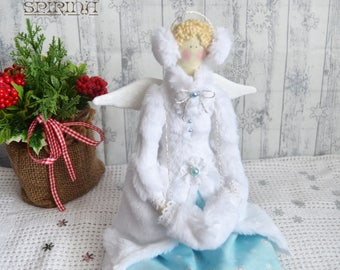 Tilda Doll - Winter angel on skates - Gift for girl - Tilda - Christmas gift - Gift for girl