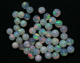 30% Off AAAA+ Natural Ethiopian Opal Beads Round balls Gemstone 4mm 4 PCs Lot High Grade Opal Beads #BR140