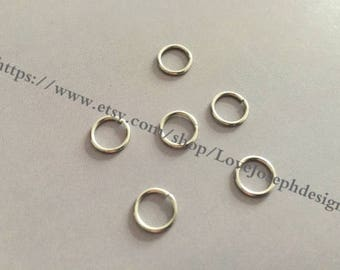 100 Pieces /Lot silver Plated 9mmx8mm open jump rings