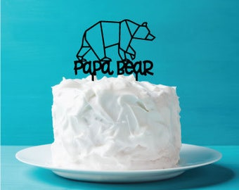 Father's Day Cake Topper - Papa Bear