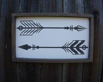 Arrows - Wall Art - Home Decor- Accent Sign - Glitter Sign