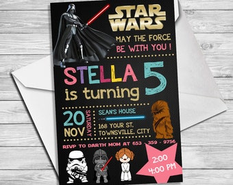 Star Wars Party Invitation Star Wars Party Printable Star