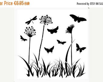 Solde -5% Reusable stencil Butterfly meadow - USA