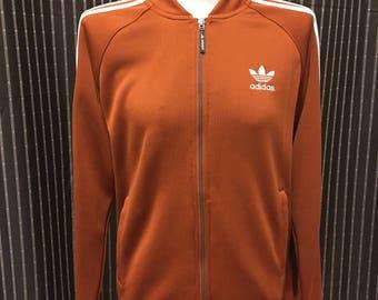 Adidas Rust/Orange track jacket